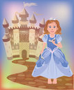 Beautiful little princess cinderella vector illustration Royalty Free Stock Photo
