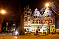 Beautiful little traditional house in Amsterdam in night