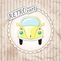 Beautiful little yellow retro car.