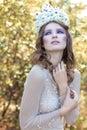 Beautiful lovely gentle graceful fairy fairy in a flower crown