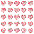 Beautiful lovely summer juicy tasty red and pink strawberry hearts pattern Royalty Free Stock Photo