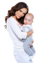 Beautiful loving mother and baby Royalty Free Stock Photos