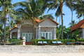 Beautiful luxury houses tropical resort beach Royalty Free Stock Photography