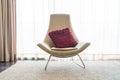 Beautiful luxury pillow on sofa decoration in livingroom interio Royalty Free Stock Photo