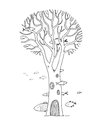 Beautiful magic tree and sea fish. Royalty Free Stock Photo