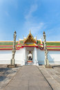 Beautiful main door of roonratchawararam temple,Thailand Stock Image