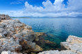 Beautiful majorca lagoon tropical landscape of rocky coast Royalty Free Stock Photos