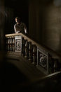 Beautiful man in the clothing of the th century a interior with stairs Royalty Free Stock Photography