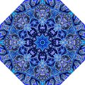 Beautiful mandala pattern with floral ornamnet in blue tones Royalty Free Stock Photo