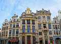 The beautiful mansions brussels belgium june grand place is famous for its luxury architecture and richly decorated facades of Stock Photography