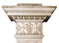 Beautiful marble architectonic decoration with floral elements Royalty Free Stock Photo