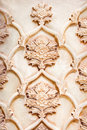 Beautiful marble carvings on famous Vakil mosque Stock Photography