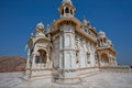 Beautiful marble white jaswant thada mausoleum built in memory of indian king maharaja singh ii jodhpur india perfect Stock Photography