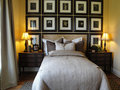 Beautiful Master Bed Room Royalty Free Stock Photo