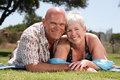 Beautiful mature couple Stock Photos