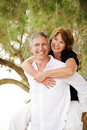 Beautiful mature couple having fun Stock Image