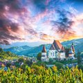 Beautiful medieval architecture of Biertan fortified Saxon church in Romania protected by Unesco World Heritage Site