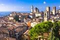 Beautiful medieval  Bergamo, Lombardy, Royalty Free Stock Photo