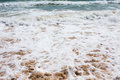 Beautiful mediterranean water lapping on the shore clear Stock Photography