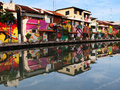 Beautiful melaka malaysia truly asia river bank graffiti a nice view of the Royalty Free Stock Images