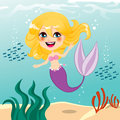 Beautiful Mermaid Girl Royalty Free Stock Image