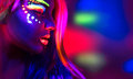 Beautiful Model Girl With Fluo...