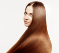 Beautiful model with healthy shiny long hair. Beauty luxurious h Royalty Free Stock Photo