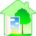 Beautiful modern eco house Royalty Free Stock Photos
