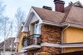beautiful modern house with  balcony Royalty Free Stock Photo
