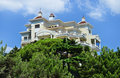 Beautiful modern house hotel yalta crimea architecture a in ukraine Royalty Free Stock Images