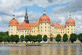 Beautiful moritzburg palace near dresden germany in spring time Stock Photography