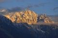Beautiful morning light on mountain in northern pakistan top of Stock Photos