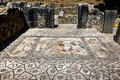 A beautiful mosaic at the ancient Roman city of Volubilis in Morocco. Royalty Free Stock Photo