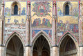 Beautiful mosaic depicting Last Judgment above the Golden Gate in St. Vitus cathedral Royalty Free Stock Photo