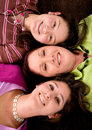 Beautiful mother and daughters Stock Image