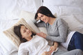 Beautiful mother with teenage daughter Royalty Free Stock Photo