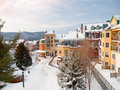 Beautiful Mount-Tremblant ski resort village Royalty Free Stock Photo
