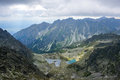 Beautiful mountain glacial lakes slovakia aerial view of national park high tatra vysoke tatry Stock Photography