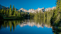 Beautiful mountain scene in Idaho with Lake Mountains and forest Royalty Free Stock Photo