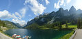 Beautiful mountains and lake of Austrian Alps Royalty Free Stock Photo