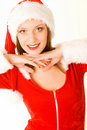 Beautiful mrs santa claus Royalty Free Stock Photography