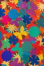 Beautiful multi-colored background paper flowers Royalty Free Stock Photo
