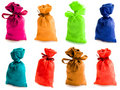 Beautiful multi-coloured sacks Royalty Free Stock Photo