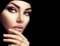 Beautiful muslim woman face portrait Royalty Free Stock Photo
