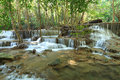 Beautiful muti layer waterfall deep forest thailand Royalty Free Stock Photo