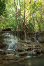 Beautiful muti layer waterfall deep forest thailand Royalty Free Stock Photos