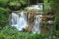 Beautiful muti layer waterfall deep forest thailand Royalty Free Stock Image