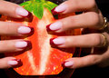 Beautiful nails with Art Stock Photography