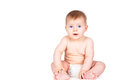 Beautiful naked child sits Royalty Free Stock Photography