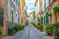 Beautiful narrow old street. Royalty Free Stock Photo